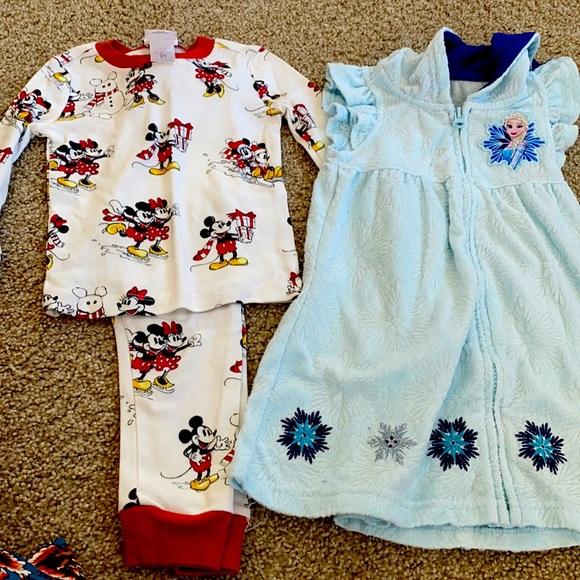 Disney Toddler PJ's Frozen/Minnie Mikey Mouse